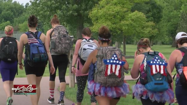 Hikers March 22-Miles Along Sioux Falls Bike Path To Honor Veterans
