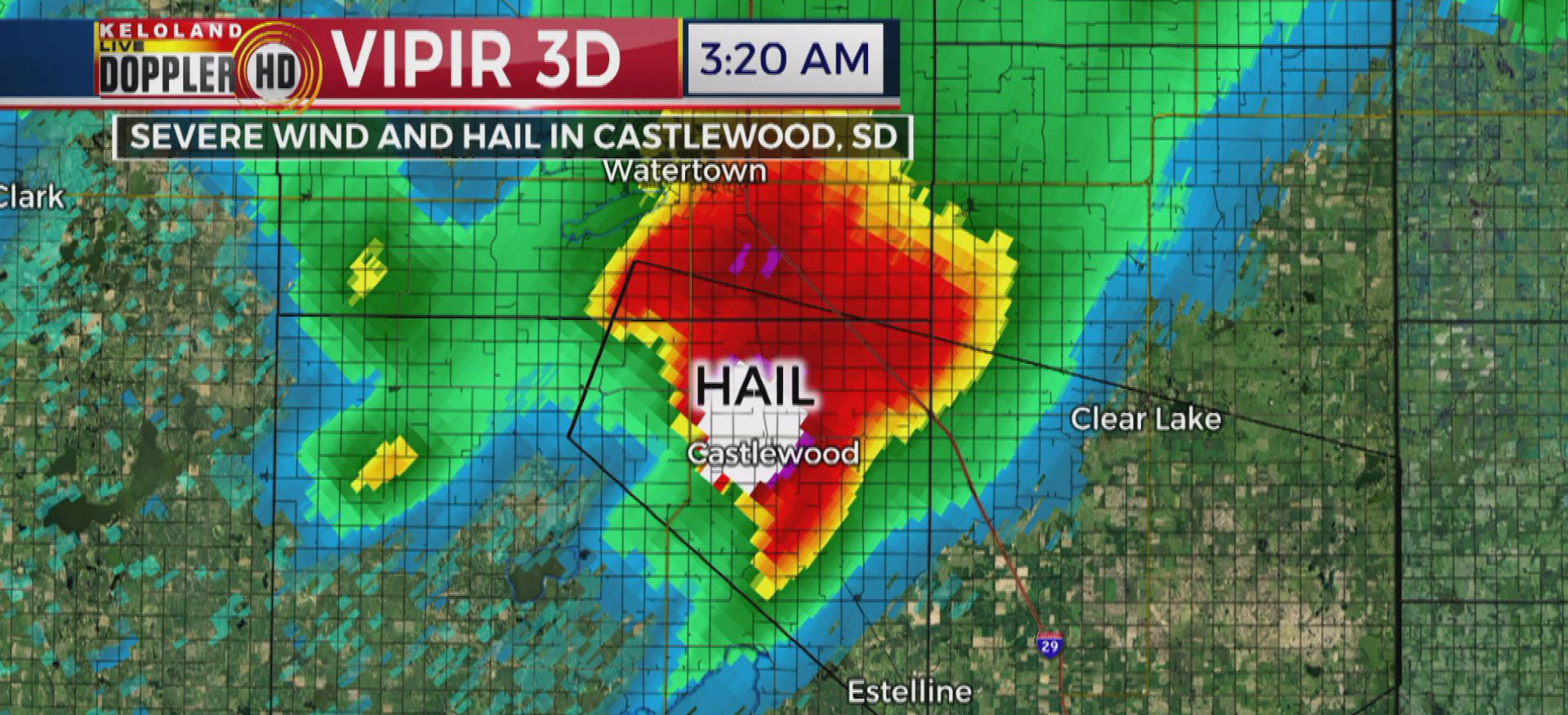 Keloland Auto Mall >> Hail, Strong Winds Leave Behind Damage And Debris
