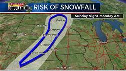 Risk of snowfall South Dakota weather